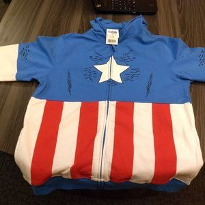 Marvel Shirts & Tops - CAPTAIN AMERICA HOODIE - Boys XL - Marvel Official